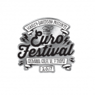Euro Festival Pin In Brass 2017